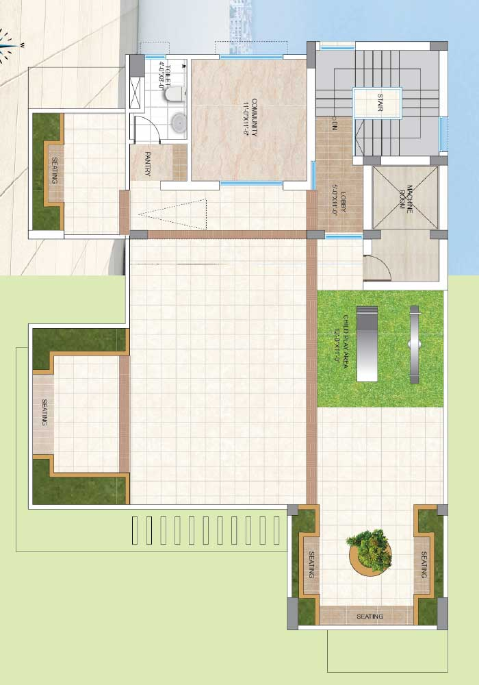 Assure Aashiana Roof Top Plan