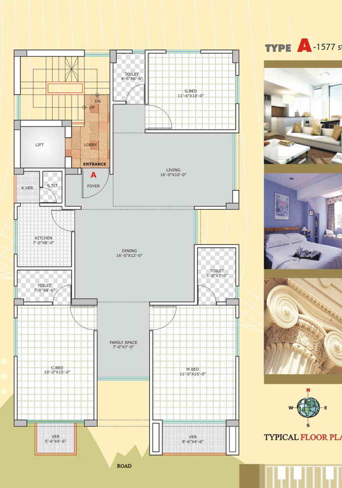 Assure Anandadhara Typical Floor Plan Type-A