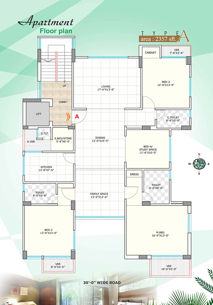 Assure Bithi Bihongo Apartment Floor Plan