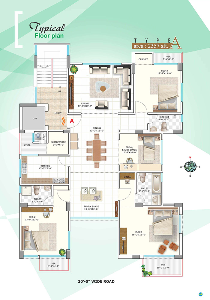 Assure Bithi Bihongo Typical Floor Plan
