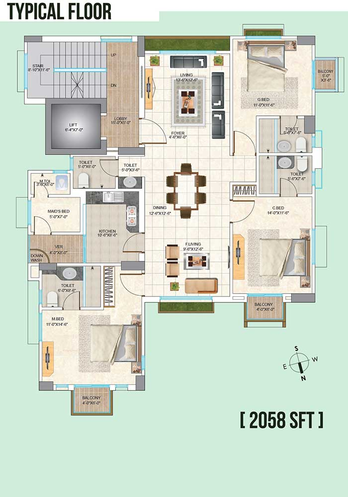 Assure Blessing Typical Floor Plan