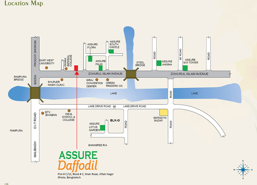 Assure Daffodil location Map