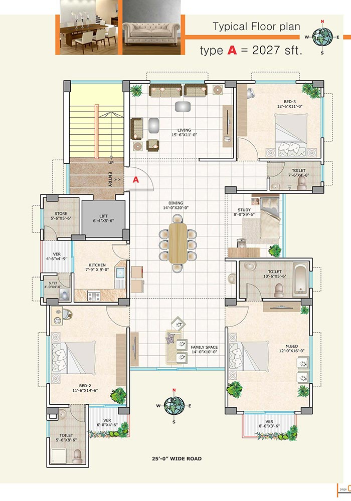 Assure Dokhin Hawa Typical Floor Plan Type-A