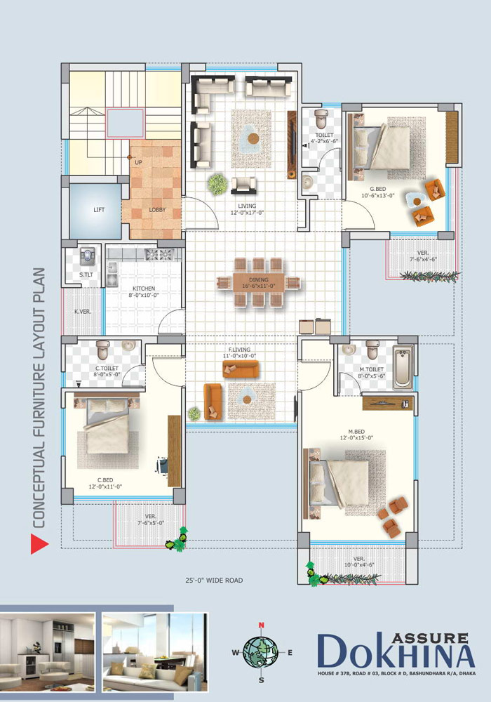 Assure Dokhina Furniture Layout Plan