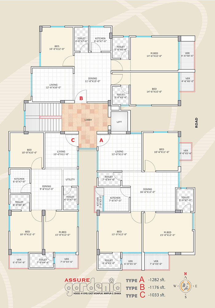 Assure Gardenia Typical Floor Plan Type-A,B,C