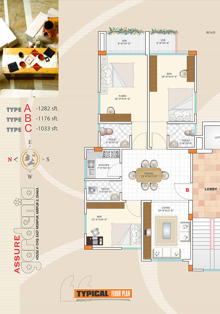 Assure Gardenia Typical Floor Plan Type-B