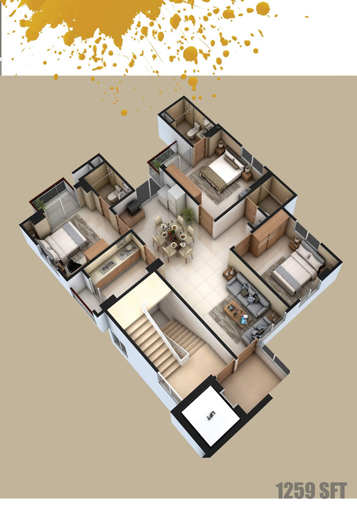 Assure Hayat Manjil Axonometric View