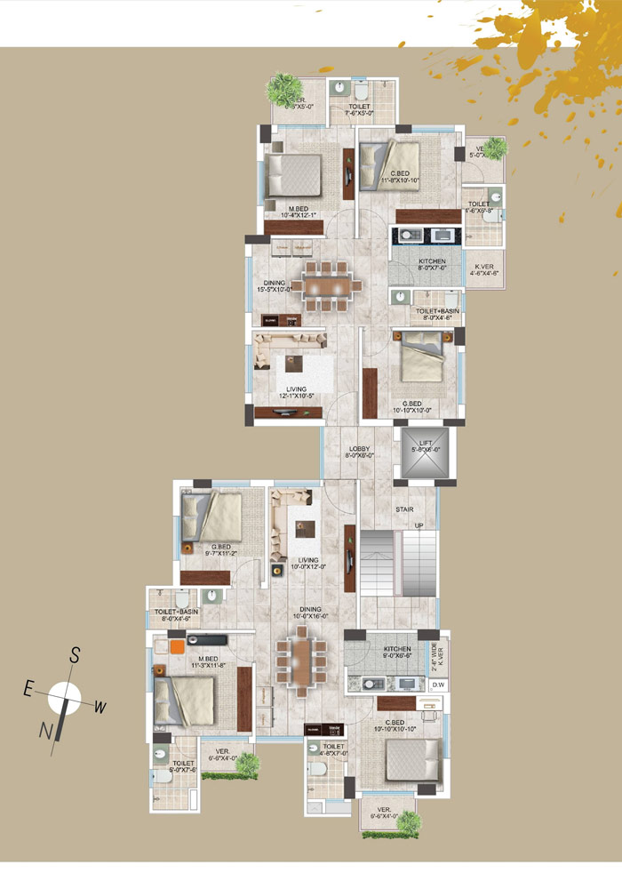 Assure Hayat Manjil Typical Floor Plan