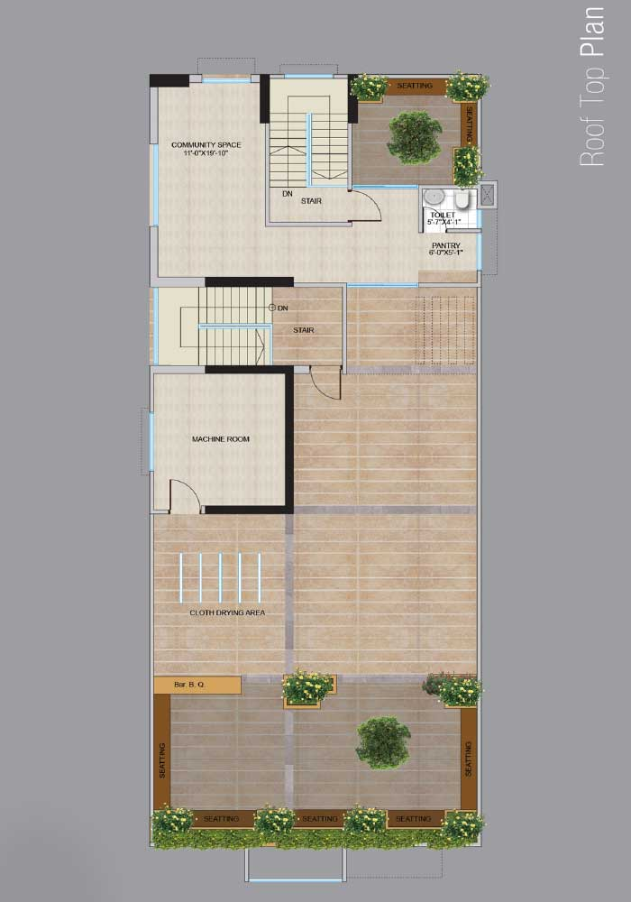 Assure Kapoti Roof Top Floor Plan