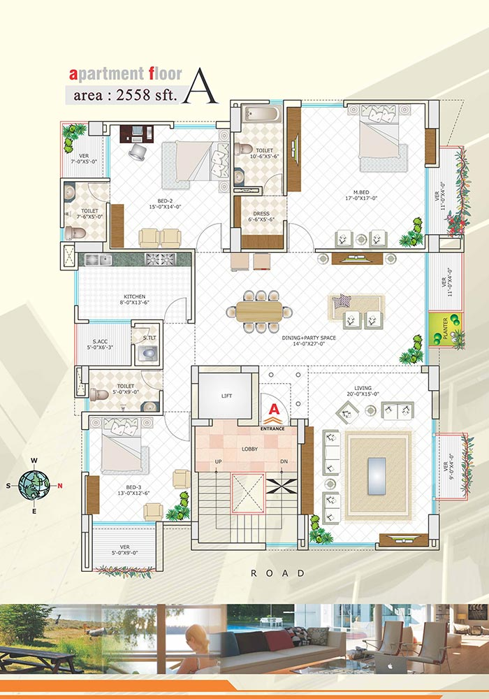 Assure Lake Breeze Apartment Floor Plan
