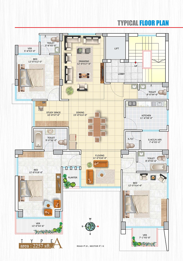 Assure Lake Vista Typical Floor Plan