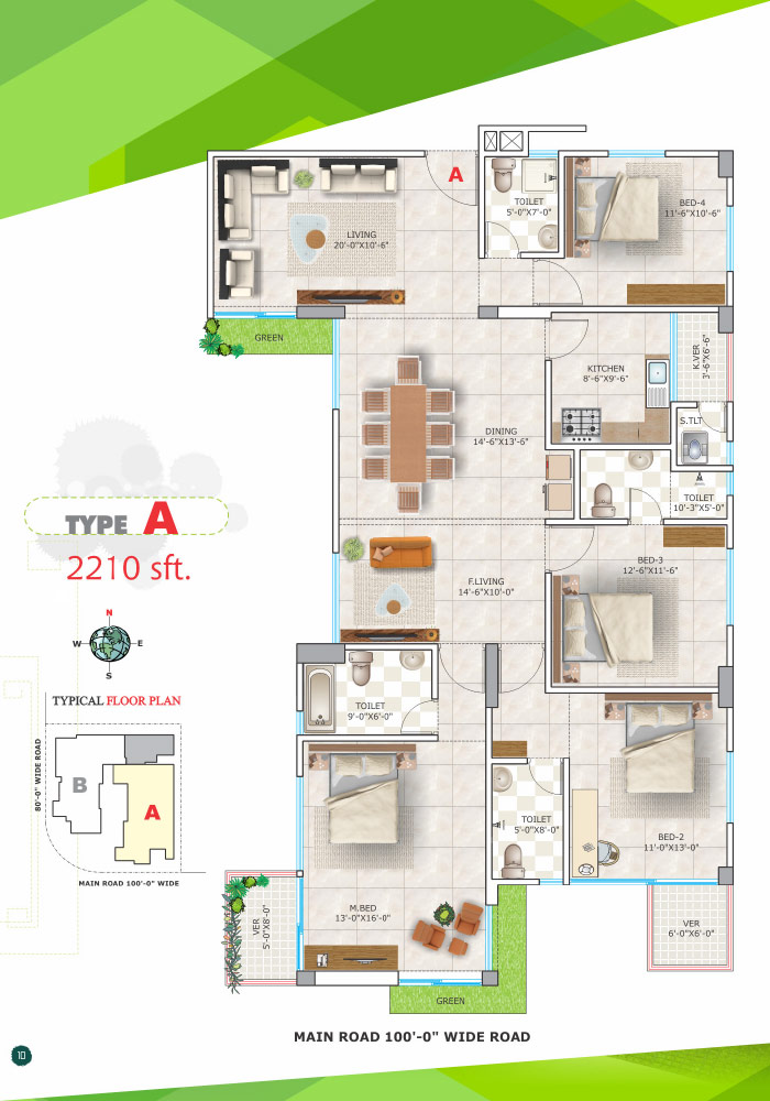 Assure M N Tower Typical Floor Plan Type-A
