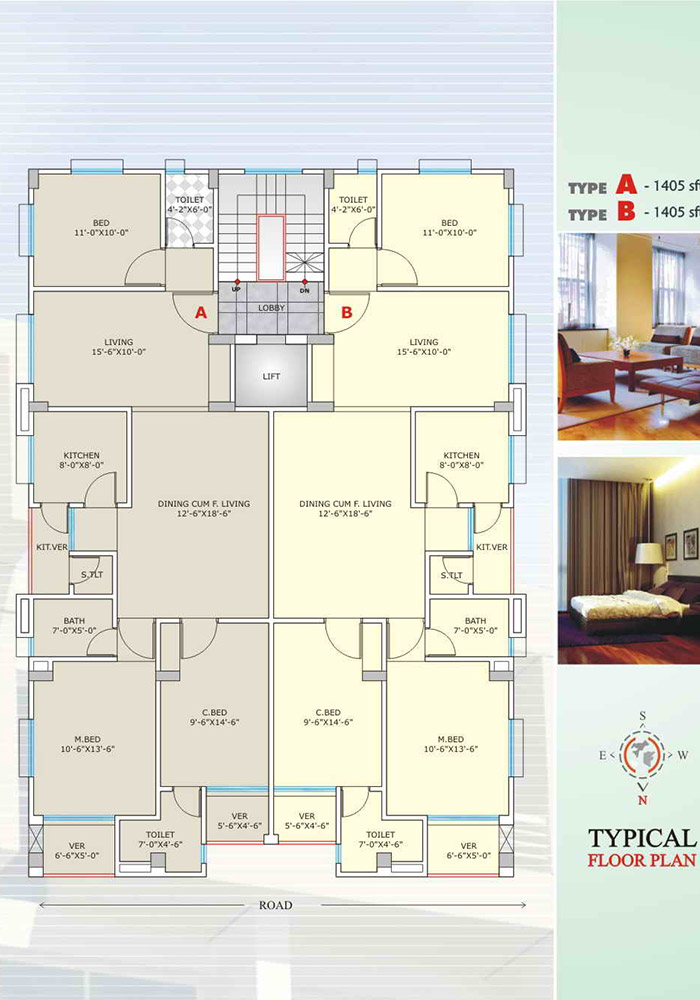 Assure Maple Leaf Typical Floor Plan Type-A & B