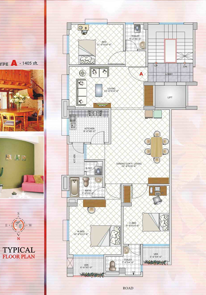 Assure Maple Leaf Typical Floor Plan Type-A