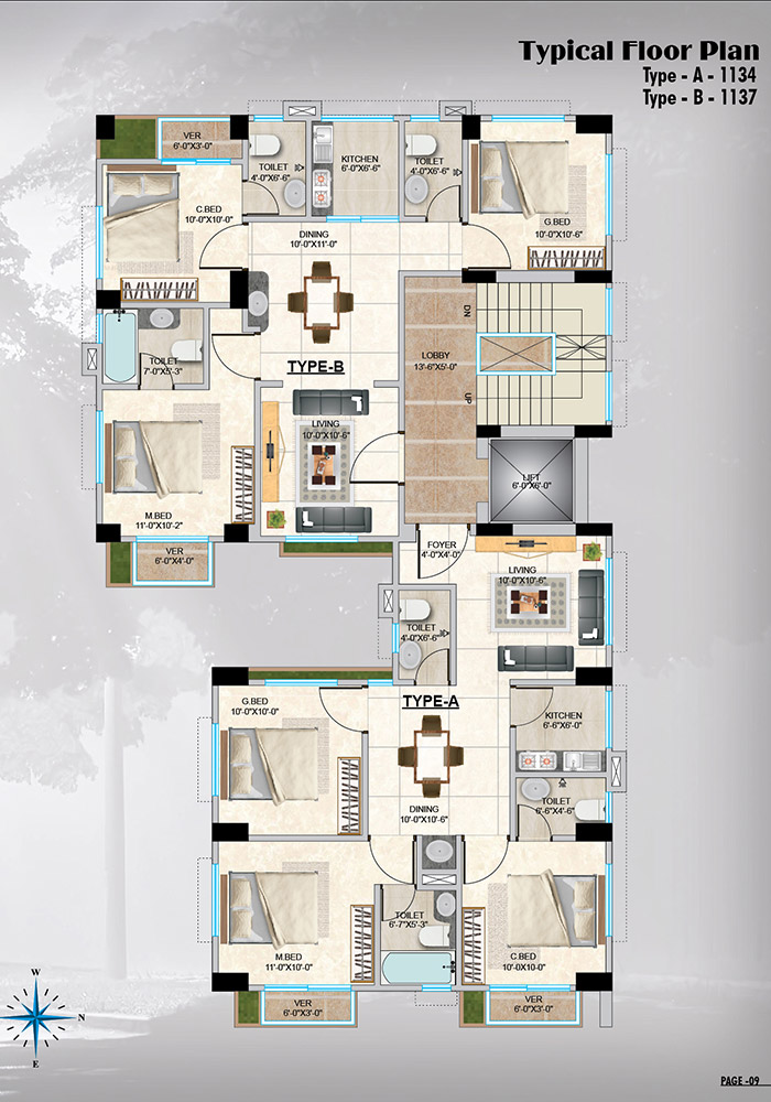 Assure Matrichaya Typical Floorplan