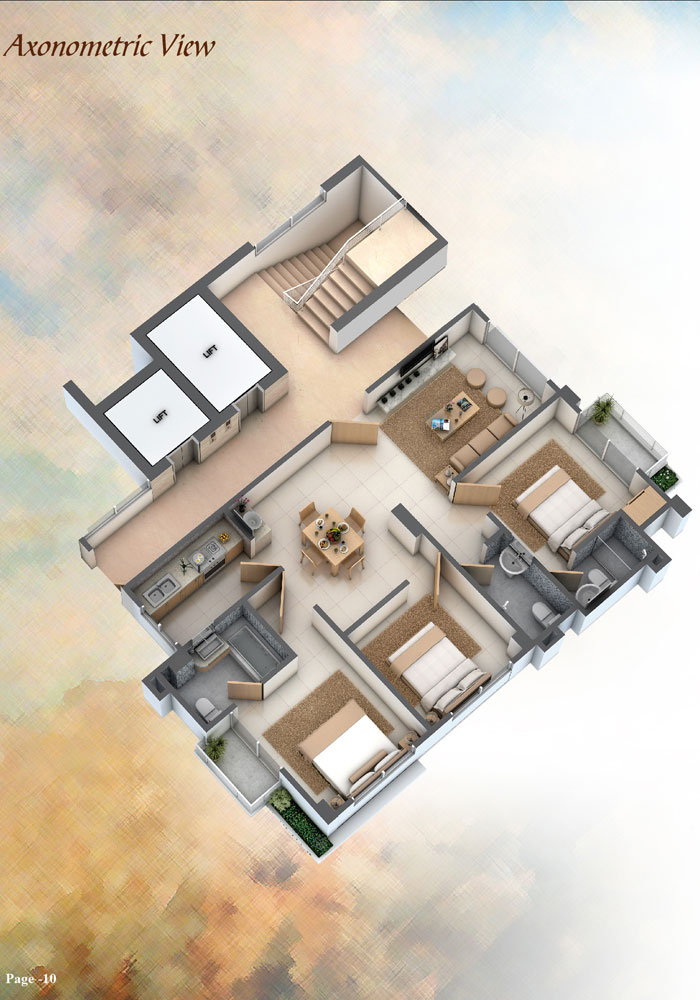 Assure Minamoti Castle Axonometric View