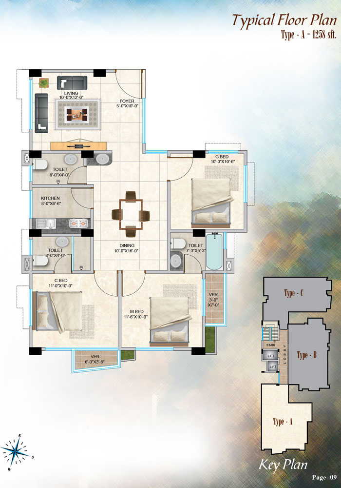 Assure Minamoti Castle Typical Floor Plan Type-A
