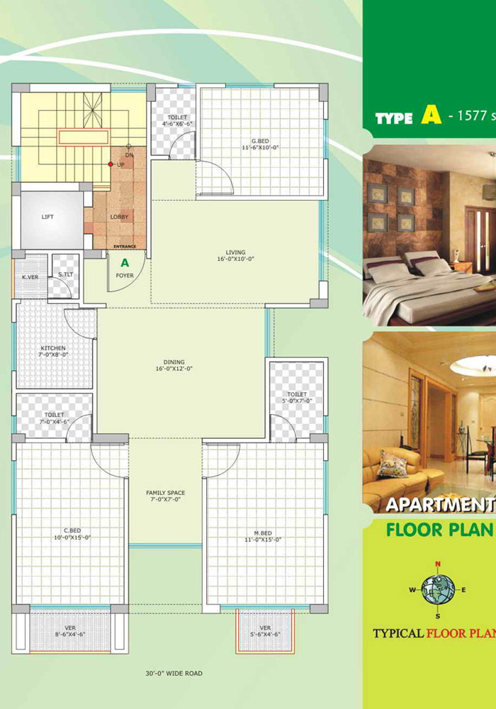 Assure Shamoita Apartment Floor Plan Type-A