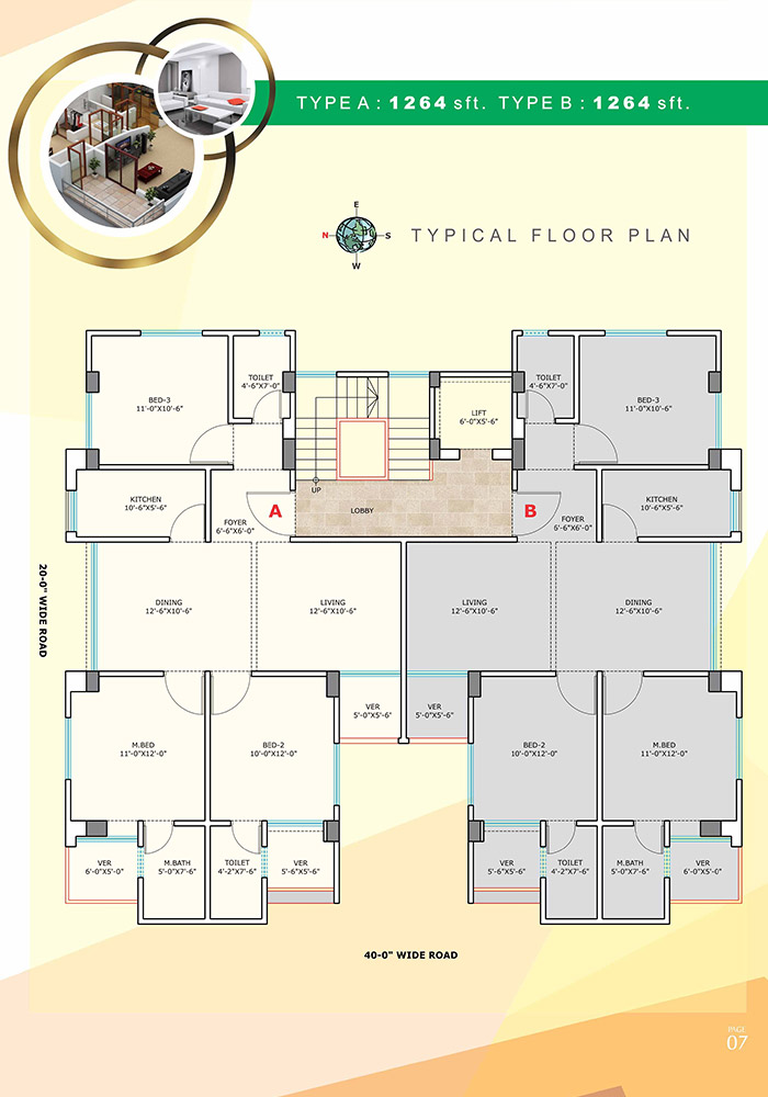 Assure Willows Typical Floor Plan Type-A