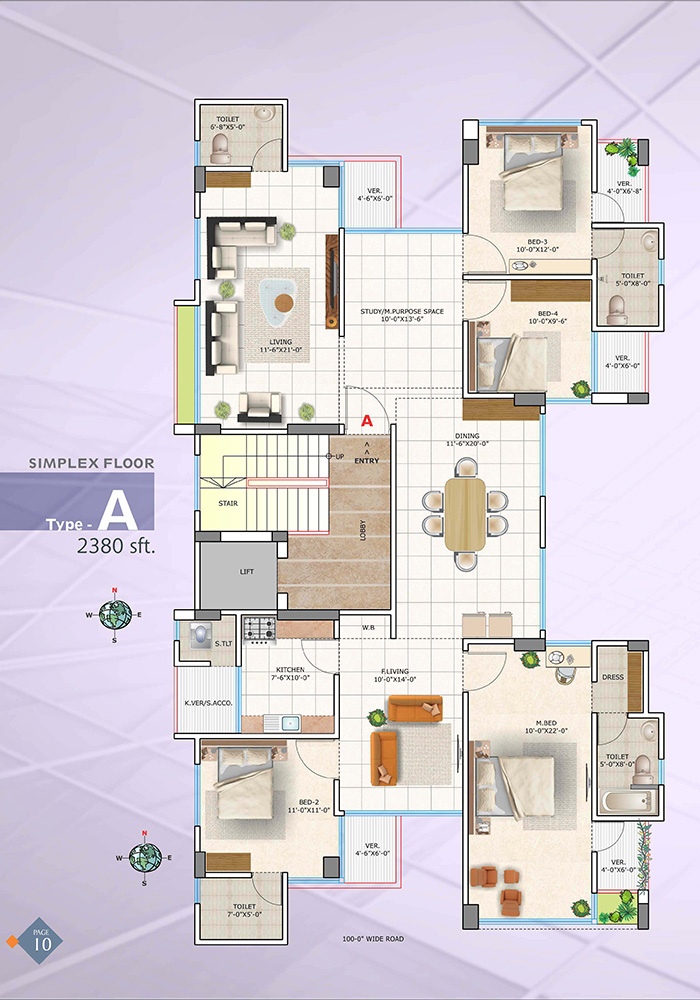 Assure Wisteria Simplex Floor Plan Type-A