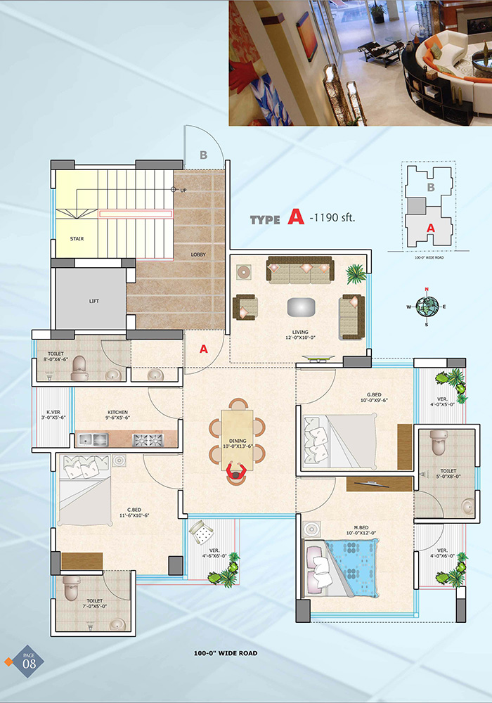 Assure Wisteria Typical Floor Plan Type-A