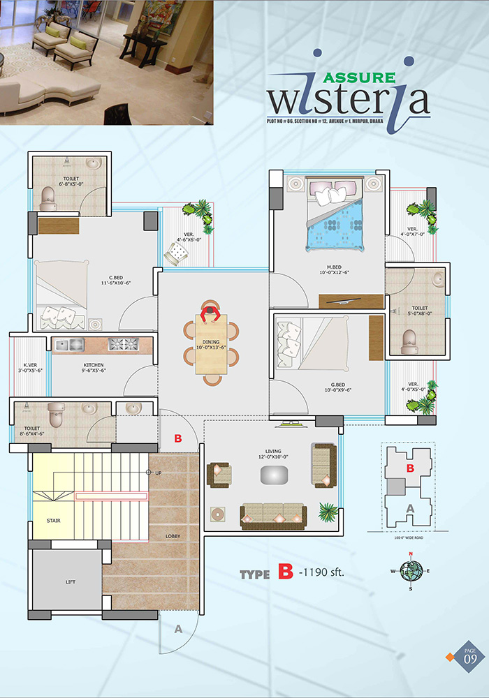 Assure Wisteria Typical Floor Plan Type-B