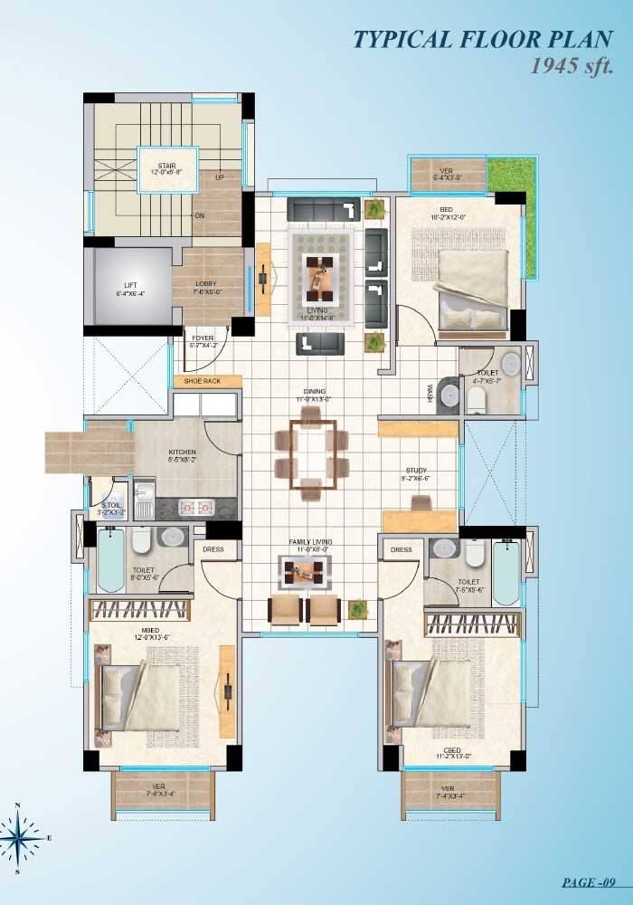 Assure Zaara Typical Floorplan