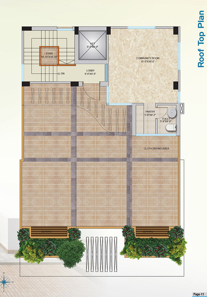 Mohsin Assure Rupantar Roof Top Plan